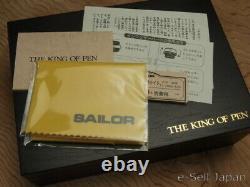 Sailor King Of Profit (kop) Bk Ebonite Broad Nib 21k & Boîte En Bois 11-7002-620