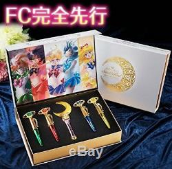 Sailor Moon Stick & Rod Light Up Édition 2017 Stylo Fan Club Ensemble Limité F / S Japon