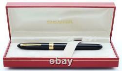 Sheaffer Crest (réédition) #591 Fountain Pen Black Gt, 18k Medium (nouveau Dans La Boîte)