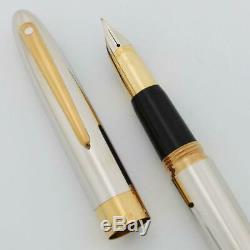Sheaffer Crest (réédition) # 594 Fountain Pen Palladium Gt, 18k Med (nouveau Dans L'encadré)