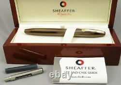 Sheaffer Legacy 2 Stylo De Fontaine En Cuivre Et Or Dans La Boîte 18kt Fine Nib 1999
