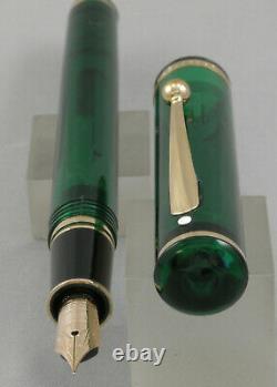 Sheaffer Levenger Connaisseur Aegean Green Fountain Pen In Box 14kt Nib Etats-unis