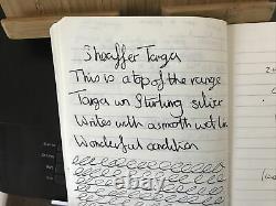 Sheaffer Targa 14k Gold Nib Fountain Pen Serviced Boxed Stirling Silver Superb