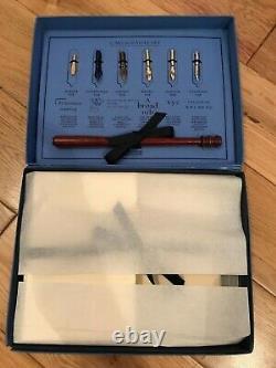 Smythson Of Bond St Vintage Calligraphie Nibs Pen Set + Papier - Enveloppes En Boîte