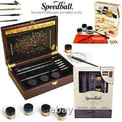 Speedball Dessin Calligraphie Lettering Kits Stylos Encres Manuel D'art Craft Set