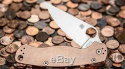 Spyderco Cuivre 2 Paramilitary Couteau. Tout Nouveau Dans La Boite