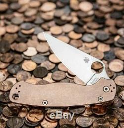 Spyderco Cuivre Paramilitary 2 Couteau (3,44 Acier Rex 45) C81cup2 Unopened Box