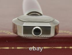 Stylo À Bille En Émail Rose Cartier Limited Edition Avec Montre Intégrée Neuve Dans La Boîte