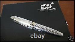 Stylo De Fontaine Solitaire Montblanc Argent Sterling Legrand X Fine Nouveau Dans La Boîte 146s