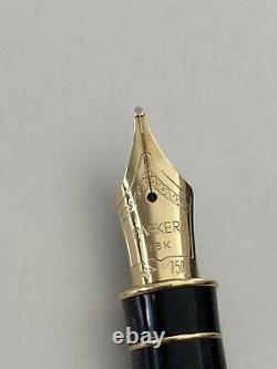 Stylo De Fontaine Sonnet Parker Argent Sterling 18k Mint Or Nib En Boîte Avec Étiquette Nr