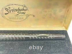 Stylo De Fontaine Vintage Grieshaber Bchr 14k Flex Nib Hump Filler Boxed Near Mint