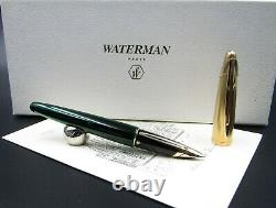 Stylo De Fontaine Waterman Edson Vert Avec Nib En Or Massif 18kt Ef Rare Nos En Boîte