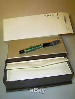 Stylo Pelikan M800, Vert Strié, En Boîte