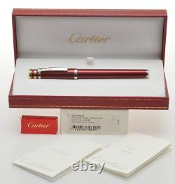 Stylo Plume Cartier Trinity Bourgogne Laque Rouge St210009 Nouvelle Boîte Old Stock 2