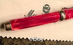 Stylo Plume Montegrappa En Argent Sterling 1912 Rouge, Nouveau Dans Une Boîte