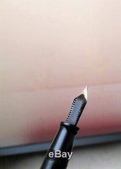 Stylo Plume Omas Milord Boîte De Whit Noir. Nib 585 Supplémentaires