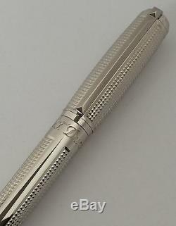 Stylo Plume S. T. Dupont D Line Blazon, Finition Palladium, 410671, Neuve Dans Sa Boîte