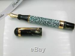 Stylo Plume Santini Italia Plume En Or 18 Kt Cachemire Nouvelle Boxed Made In Italy