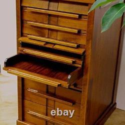 Toyooka Artisanat Papeterie En Bois Fontaine Stylo Boîte Case Chest Collection Japon