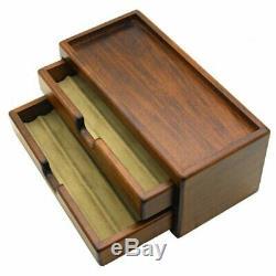 Toyooka Pen Bois Fontaine Boîte De Rangement Collection Case 8 Stylos Avec Suivi Nouveau