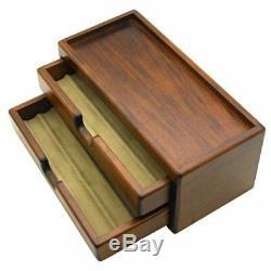 Toyooka Pen Bois Fontaine Boîte De Rangement Collection Case 8 Stylos Du Japon F / S
