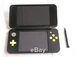 U1996 Nouvelle Console Nintendo 2ds LL XL Noir X Stylo Mémoire Lime Japan Withbox