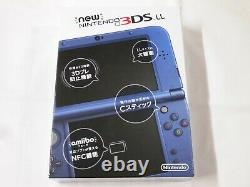 V2457 Nouvelle Console Nintendo 3ds LL XL Metallic Blue Japan Avec Stylet Boîte