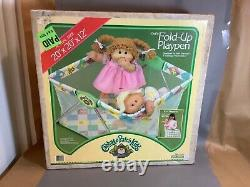 Vintage Chabage Patch Fold Up Playpen Nos New In Box Jamais Ouvert 1984