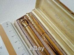 Vintage Eversharp Wahl Gold Rempli Plume & Crayon Avec Box 14k Nib Flex