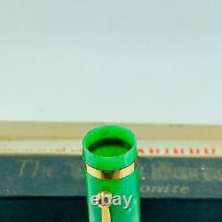 Vintage Gold Bond Stonite #8 Stylo Plume En Marbre Vert Nib Jade Avec Boîte