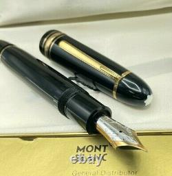 Vintage Montblanc 149 Diplomat Fountain Pen 14k Fine Flexible Nib Boxed