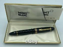 Vintage Montblanc 149 Fountain Pen Diplomat 14k Fine Pointe Boxed
