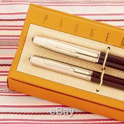 Vintage Parker 51 Spécial Bourgogne Fontaine Pen Plumier-set New Old Stock