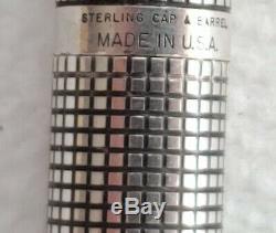 Vintage Parker 75 Sterling Silver Fountain Pen Nib 14k Et Crayon Coffret Original