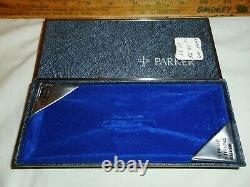 Vintage Parker 75 Sterling Silver Stylo À Bille Inutilisé Dans La Boîte