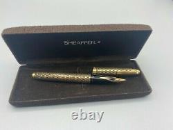 Vintage Sheaffer Imperial Fountain Pen 14k Or Rempli 14k Fine Nib Boxed