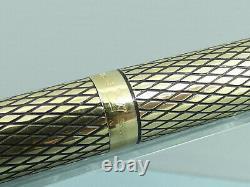 Vintage Sheaffer Imperial Sovereign Diamond Cut Fontaine Stylo, M 14k Nib, Boîte Mint