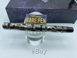 Vintage Waterman 418 Fountain Pen En Argent Sterling Overlay Boxed # 8 Flex Nib