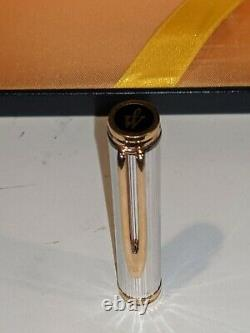 Vintage Waterman Ideal Sterling Silver 18k 750 Gft Fountain Pen Nib Rare Avec Boîte
