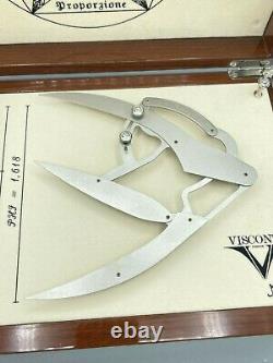 Visconti Divina XL 5.9 Sterling Stylo De Roller Argent Nouveau Dans La Boîte