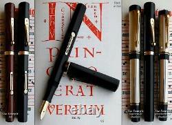 Waterman 56 New York Bhr Fountain Pen En 1920. 14k F Full Flex Nib. Menthe En Boîte