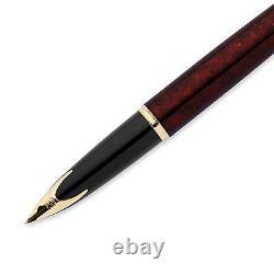 Waterman Carene Amber Shimmer Fountain Pen 18k Fine Nib Newithbox/garantie