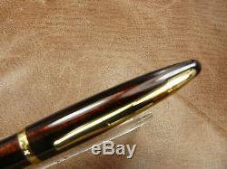Waterman Carene Amber Shimmer Plume 18k Fin Nib Newithbox / Garantie