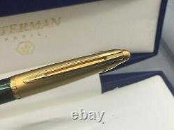 Waterman Edson Ballpoint Pen Emerald Green New Boxed