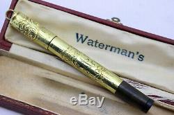 Waterman Ideal 42 Continental-18k Gold Overlay-fountain Pen-14k Nib-20's-box