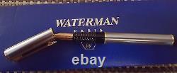 Waterman Laureat Fontaine Stylo Gunmetal & Gold Medium Pt Nouveau Dans La Boîte