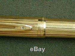 Waterman Le Man 18k Solid Gold Fountain Pen Neuf Dans La Boîte