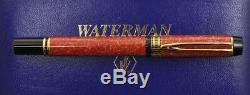 Waterman Man 100 1992 Patricien Coral Stylo Rouge Nouvelle Vierge Dans La Boîte
