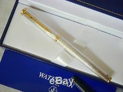 Waterman Préface Silver & Gold Fountain Pen 18kt Or Fin Pt Neuf Dans La Boîte