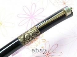 Waterman Serenite Fountain Pen Large 18k Plume D'or Nib Complet Avec De L'encre Papiers Boîte
